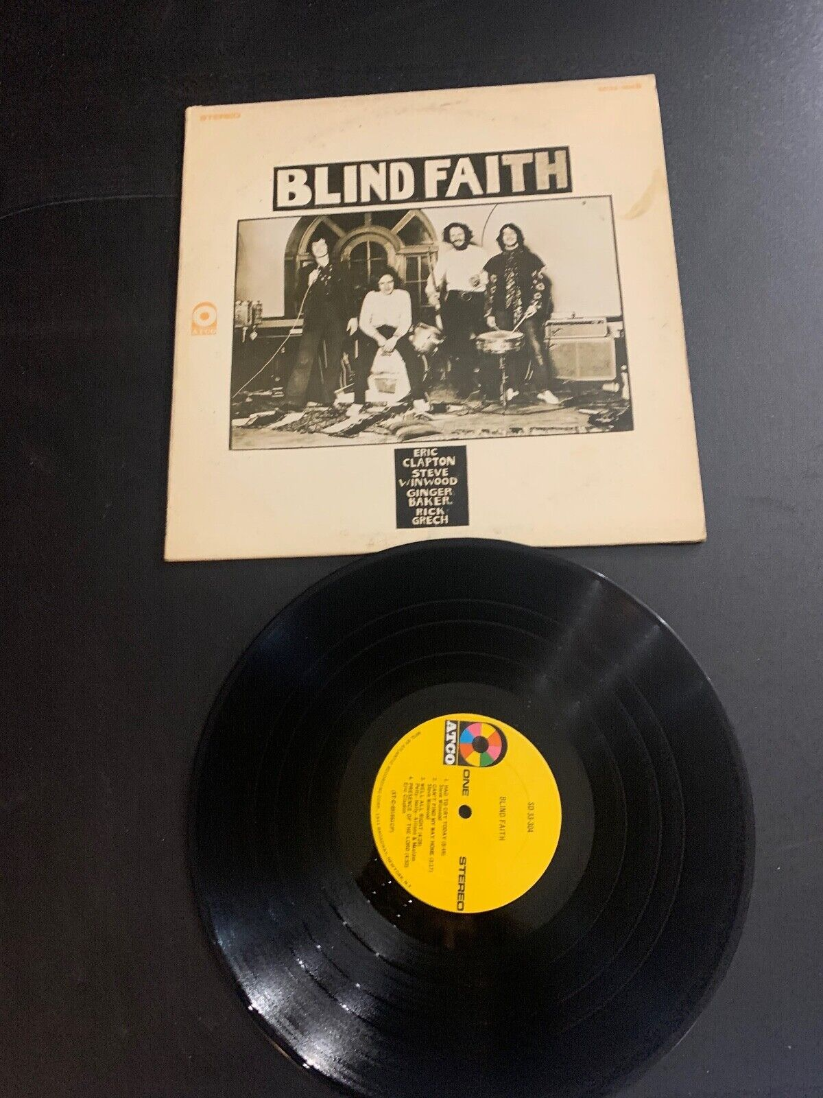 LP RECORD - BLIND FAITH - SELF TITLE - ATCO RECORDS - WINDWOOD CLAPTON GRECH  - $9.99