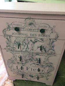 Pink French graphic dresser
