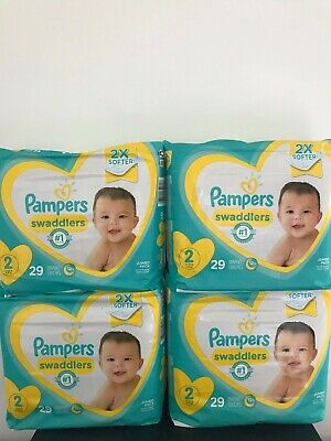 Pampers Swaddlers Size 2 (total count= 116 diapers)