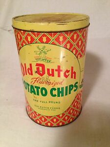 Old Dutch Potato Chip Tin