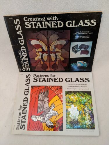 Patterns For & Creating With Stained Glass 2 Books James Gick 1976 1977 Booklets