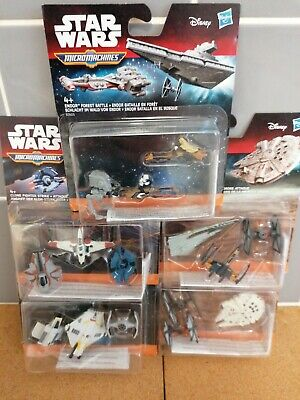 star wars micro machines spaceships..new condition and unopened joblot x5