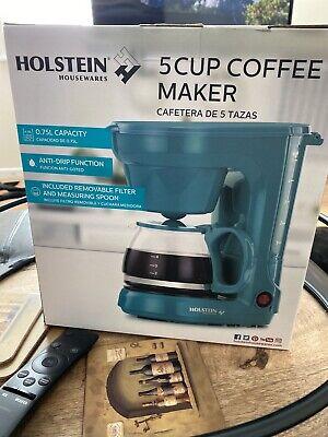 HOLSTEIN HH-0914701E Holstein Housewares 5 Cup Coffee Maker Teal
