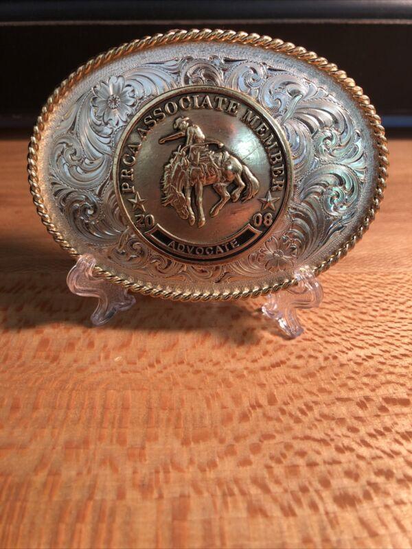 "RARE 2008 PRCA Associate Member ""Advocate"" , Montana Rodeo Belt Buckle"