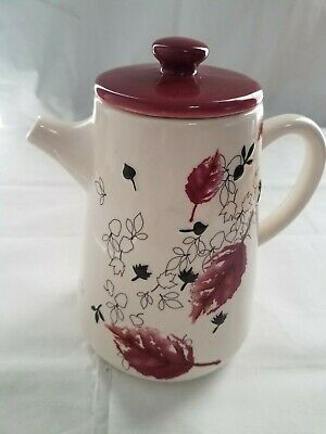 Starbucks 2007 Cherry Leaf Teapot/Coffee Pot 40 Oz Pre-Owned