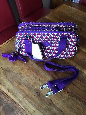 "Kipling ""FOLLO"" Triangle/multi Tote /Shoulder-bag with Detachable Strap"