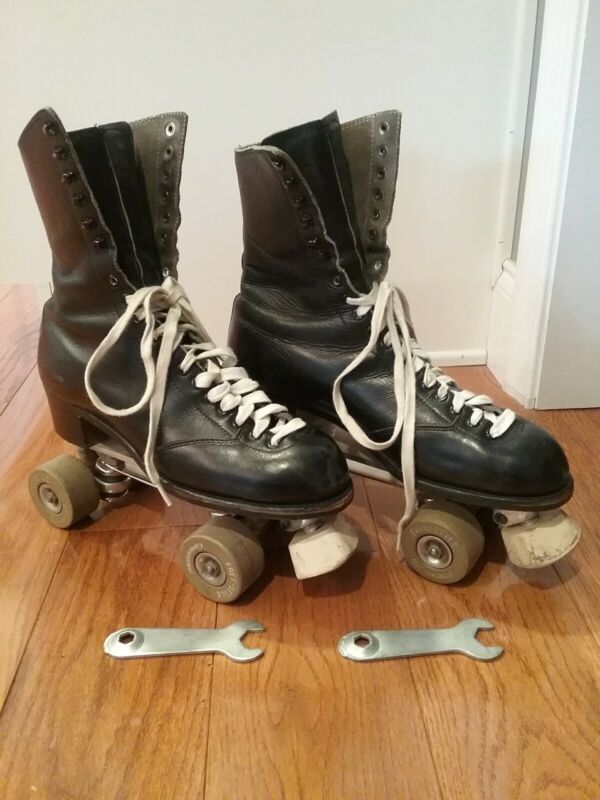 """VINTAGE """"BETTY LYTLE"""" """"STYLED BY HYDE"""" ROLLER SKATES SZ 9 CHICAGO CUSTOM PLATES"""
