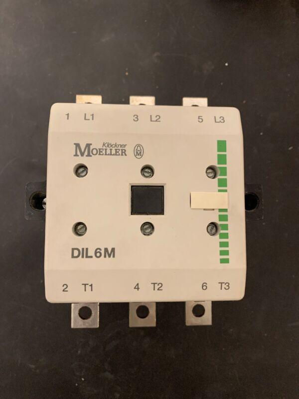 Klockner Moeller DIL6M CONTACTOR 3 Ph 150 Hp 600 V 200 A Contactor 110VAC Coil.