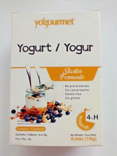 YOGOURMET~ NEW LOOK~ Yogurt Starter~ 6 Packets/box~ 2 Pack Lot~ BB 3/2023