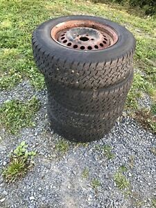 Studded winter tires and rims 195 70 R14