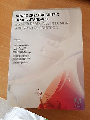 Mac-Adobe CS3 Creative Suite 3 Design Standard, Photoshop, Illustrator,InDesign