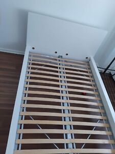 Ikea Malm White High Double Bed Frame - Free Delivery