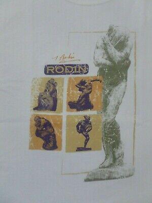 "Vintage T-shirt. Rodin. Fine Art. MET MoMA Museum Store M Medium ""as is"""