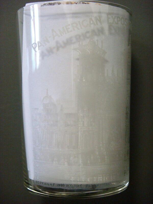 Glass - Pan-American Exposition. Buffalo 1901, ELECTRICITY BUILDING (FREE SHIP)