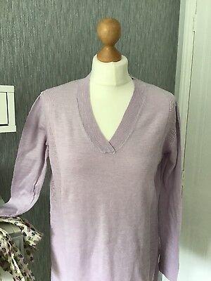 Joe Fresh Size S (10-12) Fine Knit Lilac Long Sleeved Jumper