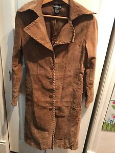 Women's suede coat