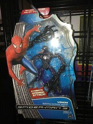 Spider-Man 3 Movie Venom Figure Spinning Symbiote Attack Marvel Hasbro 2007