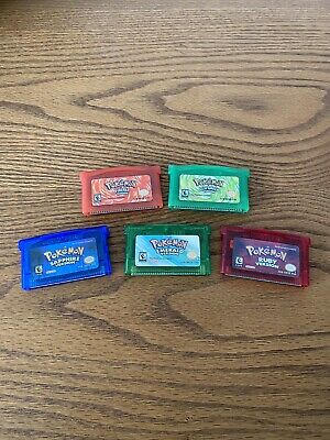 Pokemon Emerald Ruby Sapphire FireRed LeafGreen GBA Gameboy Advance
