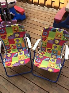 Toddler outdoor folding chairs featuring Sesame Street