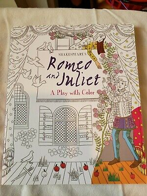 2016 Romeo and Julie: A Play with Color adult coloring book, NEW and never used