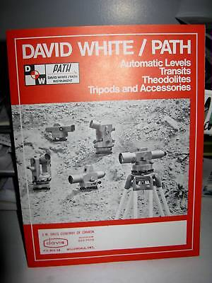 David White Path Surveying Levels Transits Theodolites 6-page Foldout Brochure