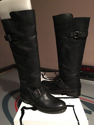 NWB DV by Dolce Vita Lucianna Black Leather Tall Riding Boots sz 8.5