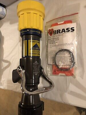 Elkhart Brass Fire Hose Nozzle 2-12 In. Yellow Sm-30fglp