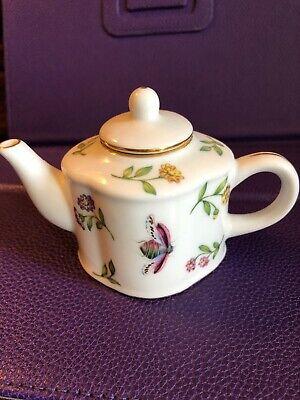 Nantucket Mini Porcelain Teapot Gold Trim Floral Design Collectors  Floral Design Porcelain