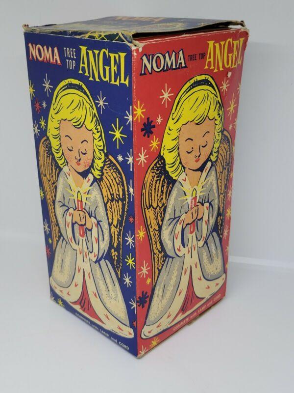 Vintage Noma Christmas Tree Top Plastic Angel in Box