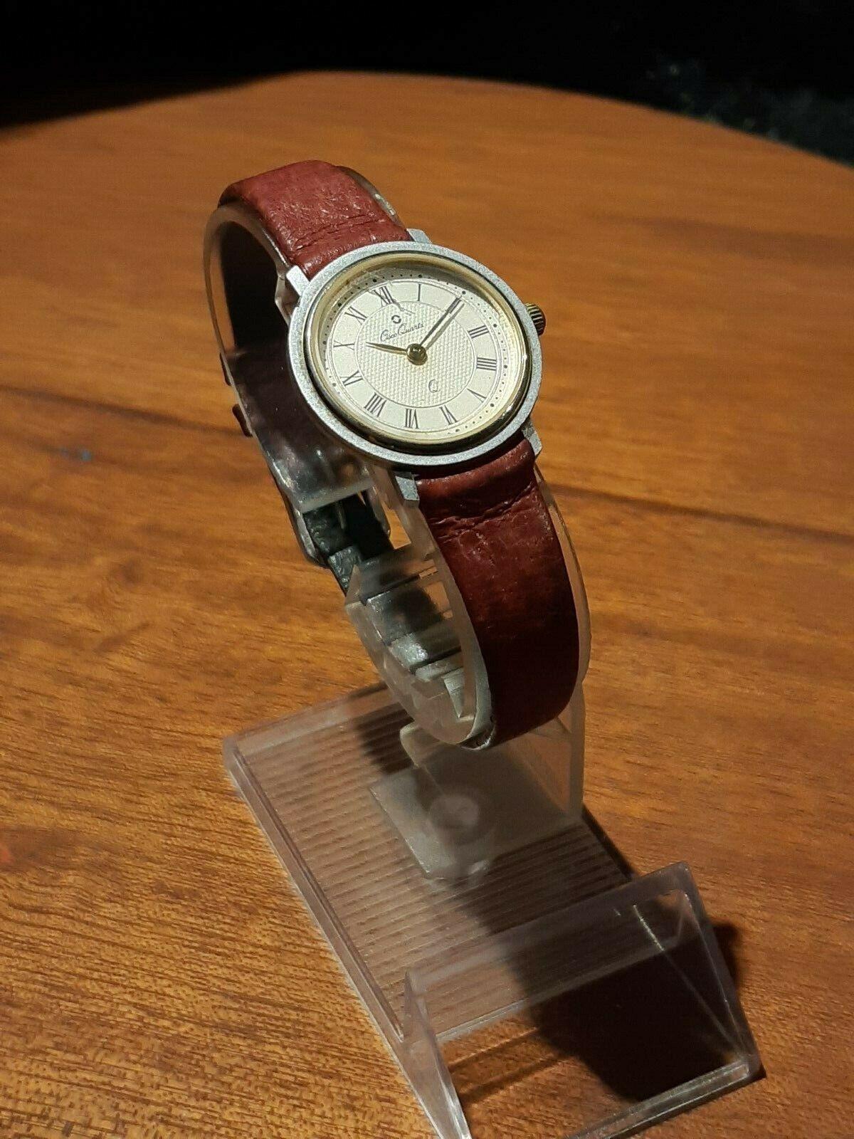 Vintage  Osco Damenuhr, hochwertiges Schweizer Quarzuhrwerk, Batterie neu, läuft