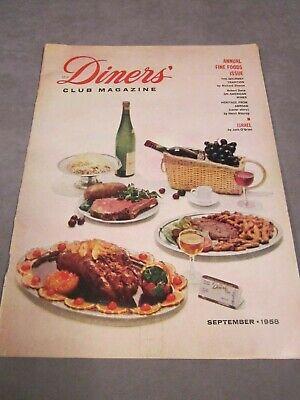Diners' Club Magazine   Sept 1958   Culinary   Fine Dining   Gourmet   covid 19 (Monthly Wine Club coronavirus)
