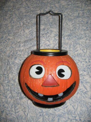 Illuminations Halloween Lantern Candle Holder Vintage Look Pumpkin Tea Light