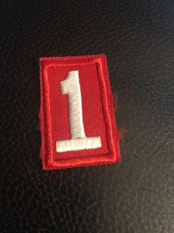 Cub Boy Scouts of America Pack/Troop Number 1 Patch, Red & White