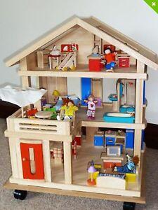 Plan Toys Dollhouse Terrace on wheels Watsonia Banyule Area Preview