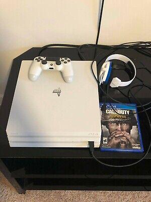 ps4 pro 1tb console white