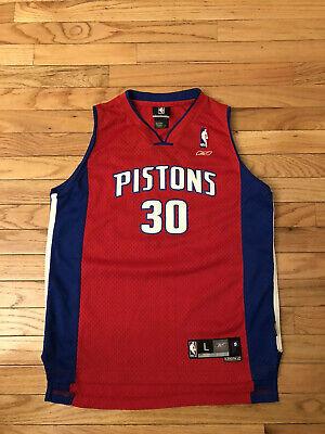 Carlos Arroyo Detroit Pistons NBA Reebok Alt Red Jersey Youth L (14-16)