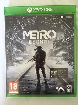 Metro exodus xbox one game 2019, used but good working condition.