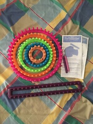 Rainbow Knitting Loom Set with Hooks and Instructions Included