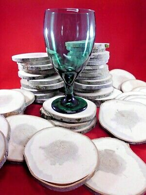 """25 MAPLE WOOD SLICES 4 """" SECONDS WOODEN CRAFTS WEDDING COASTERS DRIED tree chip"""
