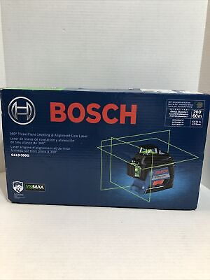 Bosch 360-degrees Green-beam Leveling And Alignment-line Laser Gll3-300g New