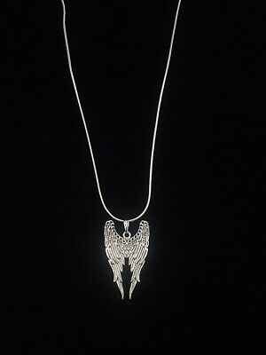Angel Wings Necklace Pendant Silver on Sterling Silver Chain