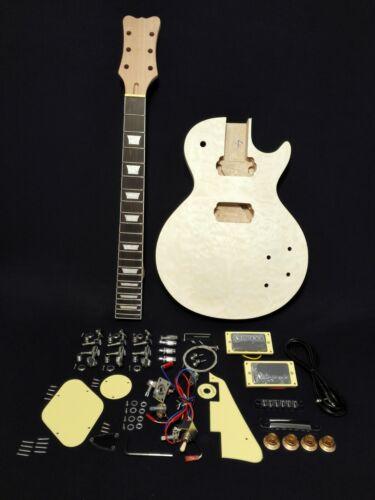 HSLPM 19380BQ Complete NO-SOLDERING Electric Guitar DIY, Set Neck, Mahogany Body