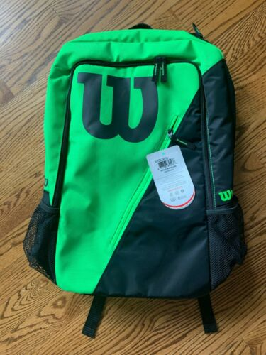 Wilson Match III Tennis Backpack Black and Green NEW