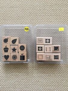 Stampin Up Wood Mount Rubber Stamps