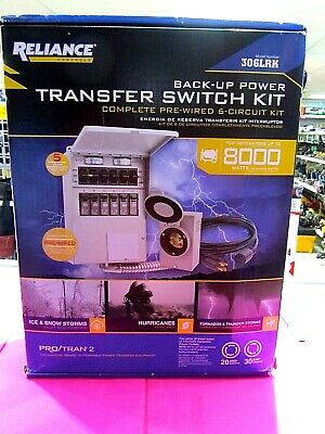 Reliance Controls 306lrkback Up Power Transfer Switch Kit - New