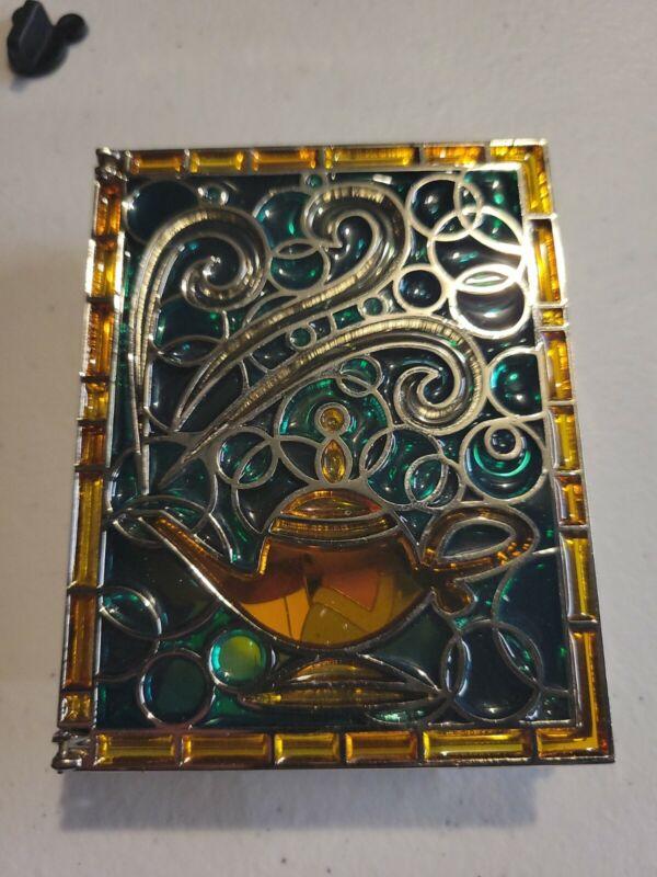DISNEY PIN STORYBOOK PRINCESS JASMINE ~ ALADDIN JUMBO STAINED GLASS PINS LE 1000