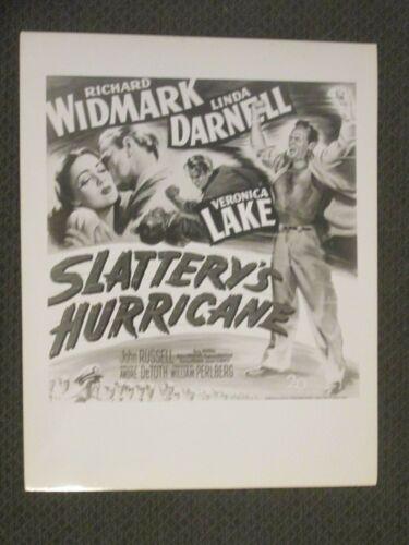 Slattery`s Hurricane     - Original   Art Movie Photo - Widmark - Darnell - Lake