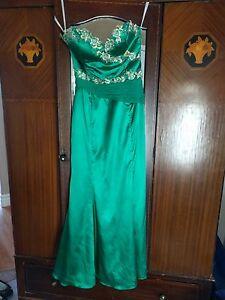 Emerald green grad dress