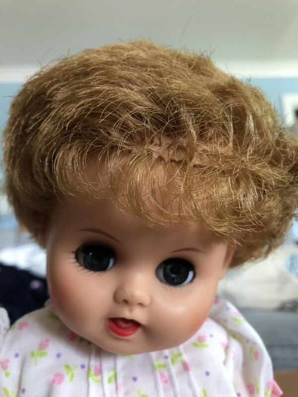 "Sun Rubber Sun Dee Doll Near Mint! Cries Drinks Sleeps  Vintage 1956 13"" Baby"