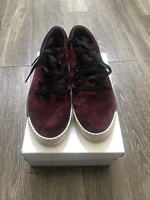finest selection 9301d 7b548 ADIDAS Originals ALEXANDER WANG X AW Skate Maroon Gum BY8909 US Sz 10.5